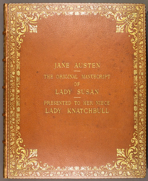 Image for page: Front_(left)_board of manuscript: lady_susan