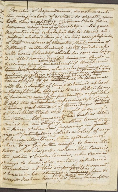 Image for page: b1-31 of manuscript: sanditon