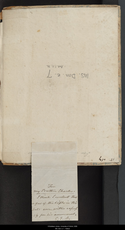 Image for page: Front_(left)_pastedown_(reverse) of manuscript: blvolfirst