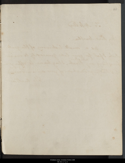 Image for page: iii of manuscript: blvolfirst