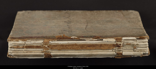 Image for page: Spine of manuscript: blvolfirst