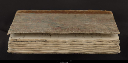 Image for page: Fore_edge of manuscript: blvolfirst